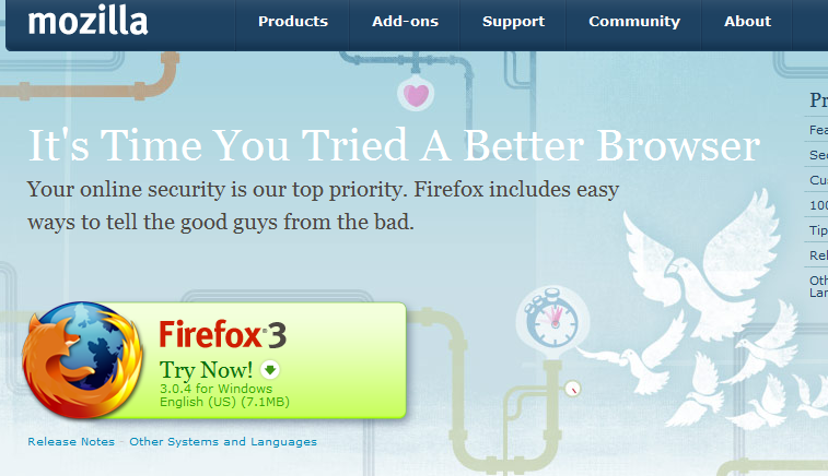 Firefox Try Now Call To Action Test