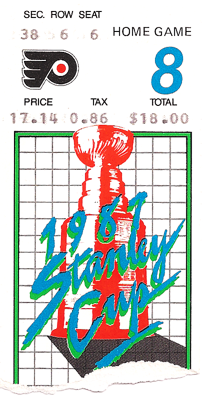 Ticket Stub for Game 8 of Flyers Stanley Cup Playoffs