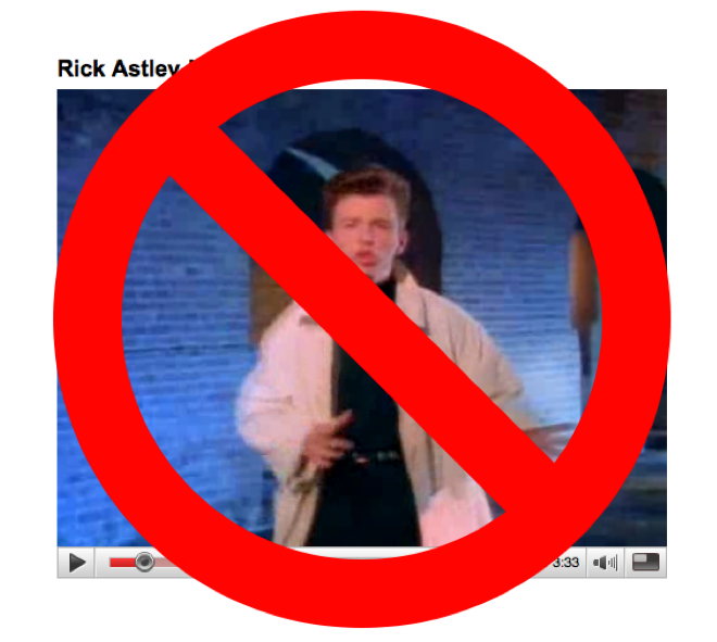 End of Rick Rolling