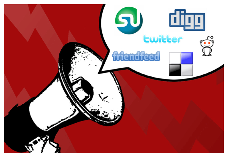 promote your own content on social sites