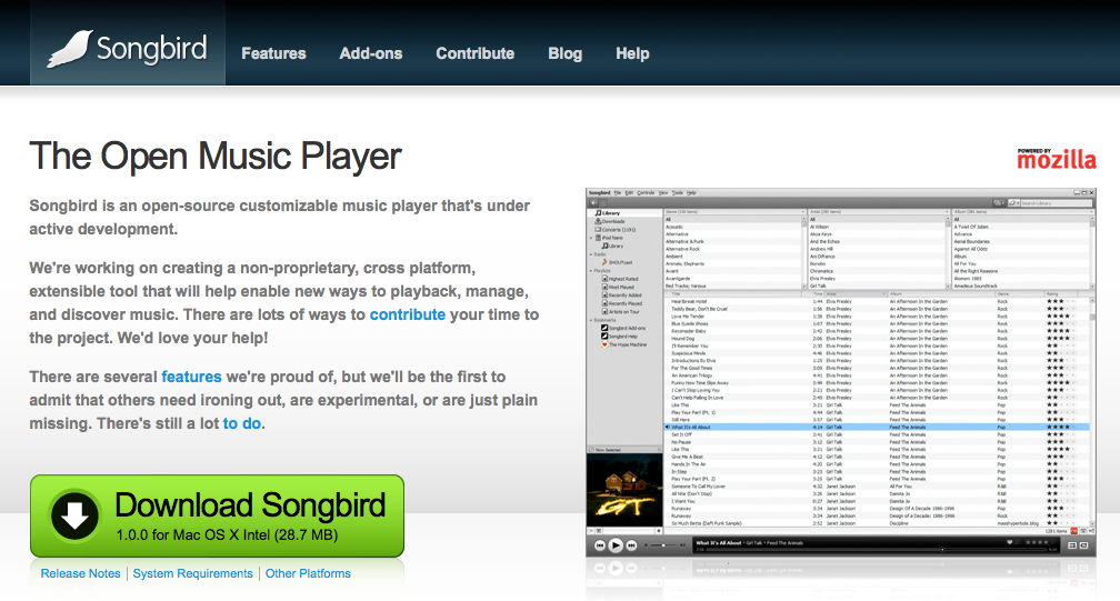 Songbird Home Page