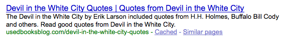 Devil in the White City Quotes Optimized