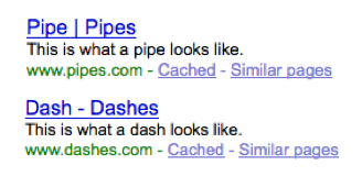 pipes vs dashes