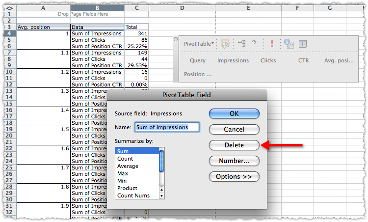 SEO Pivot Table How To