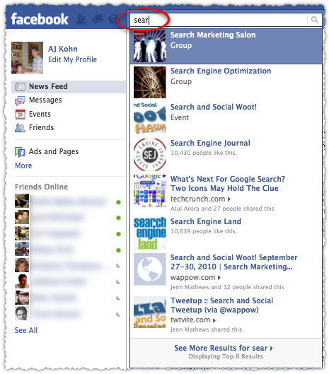 Facebook Typeahead Search