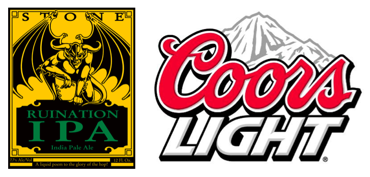 Ruination IPA or Coors Light