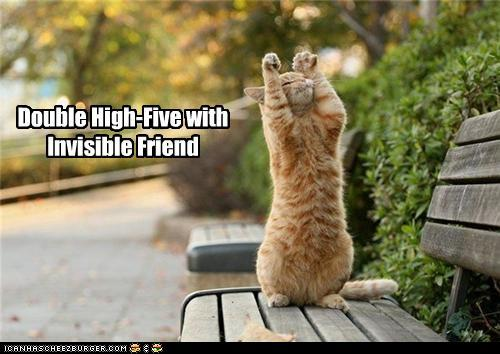 Invisible Double High Five