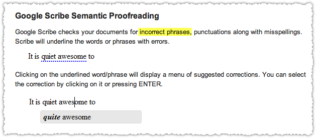 Semantic Proofreading Example