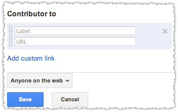 Google Contributor to Link Interface