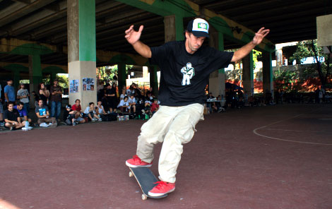 AJ Kohn at the 2010 World Championships of Freestyle Skateboarding