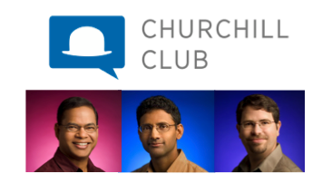 Amit Singhal, Ben Gomes and Matt Cutts at The Churchill Club
