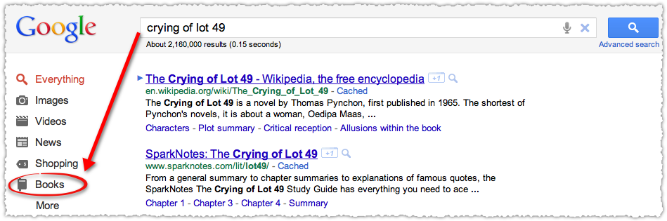 Contextual Google Search for Books
