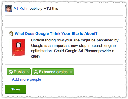 Optimized Google +1 Button Snippet