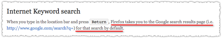 Firefox Location Bar Search Default