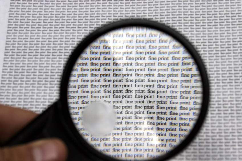 Magnifying Fine Print