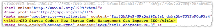 Title Tag HTML Example