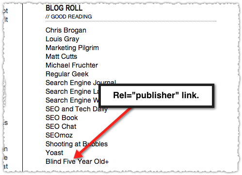 "Google+ Rel=""Publisher"" Mark-Up"