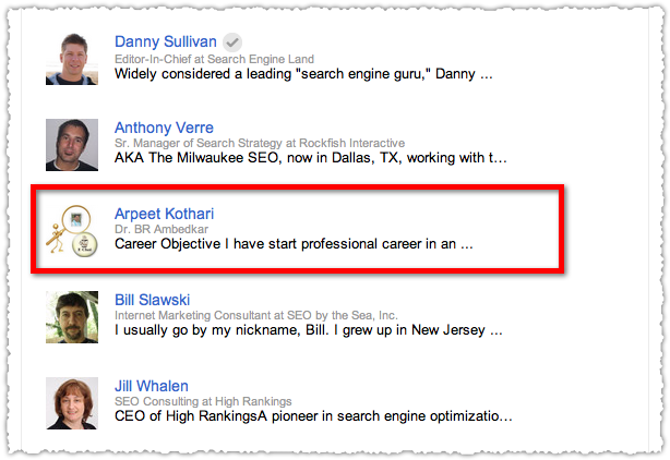 Google+ Spam for SEO