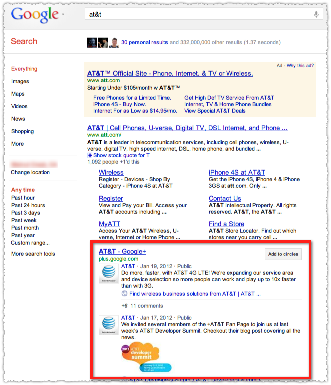 Search+ Brand Page Result