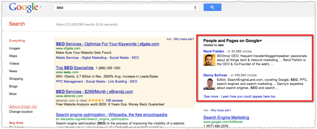 Search+ People and Pages Example