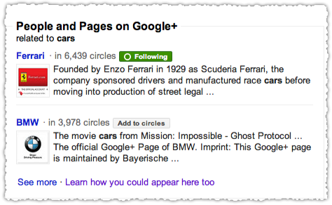 Search+ People and Pages for Cars