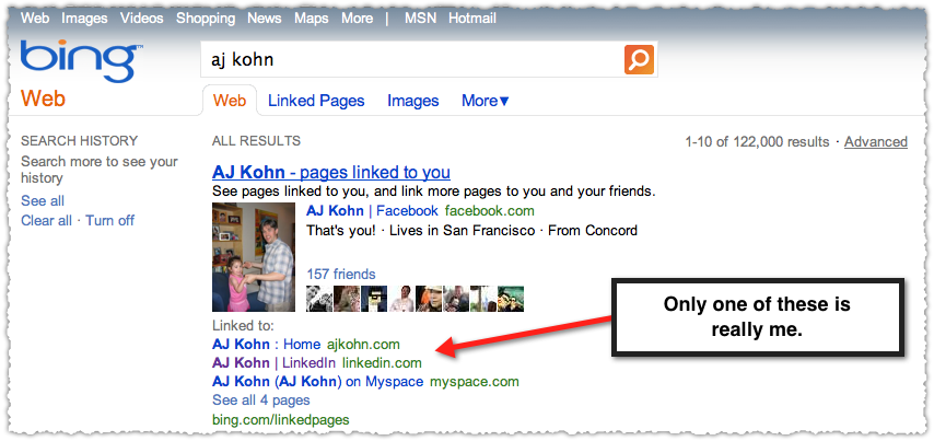 AJ Kohn Linked Pages Search Result