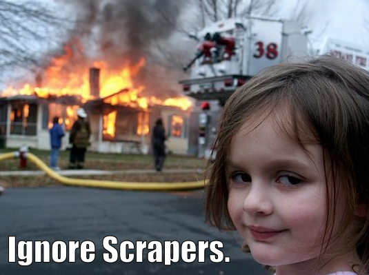 Disaster Girl Dares You To Ignore Scrapers