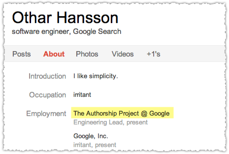 Othar Hansson The Authorship Project