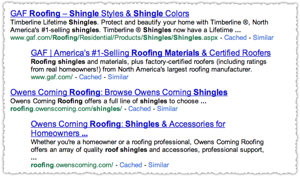 Roofing Shingles Google Results JavaScript Off