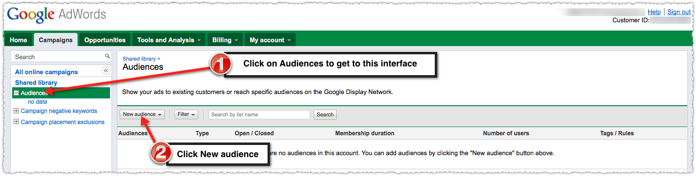 Google Adwords Select Audiences