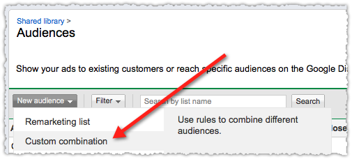 Google Custom Combination Remarketing List
