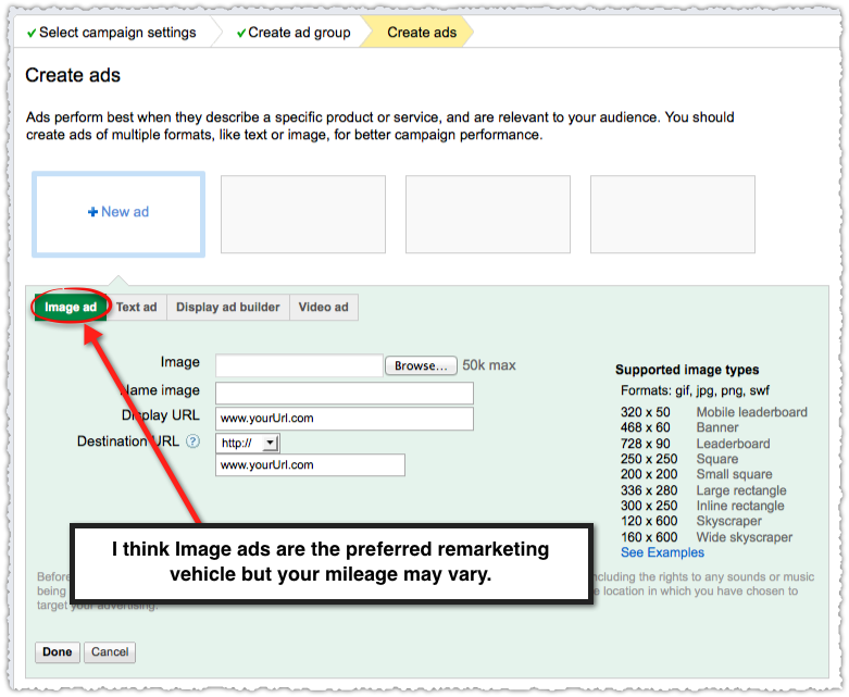 Google Image Ads for Remarketing