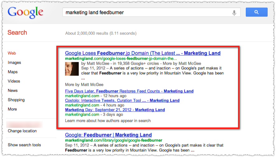 Google Authorship for Marketing Land