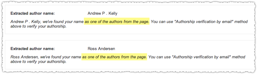 Hints at Multi-Author Results