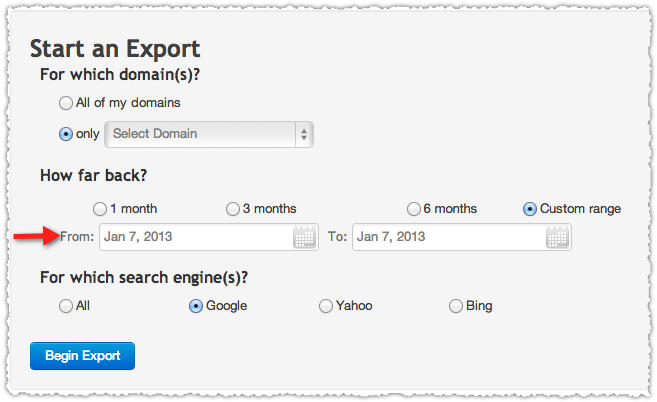 Authority Labs Keyword Ranking Export