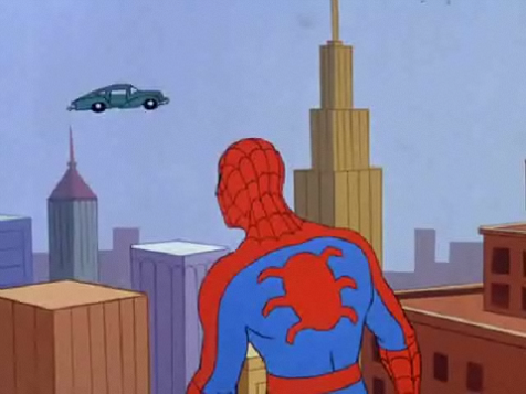 60s Spiderman Flying Car