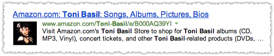 Amazon People Snippet for Tony Basil