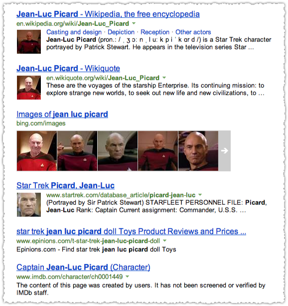 People Snippets for Jean-Luc Picard on Bing