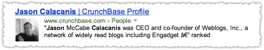 CrunchBase People Snippet for Jason Calacanis