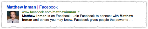 Facebook People Snippet for Matthew Inman