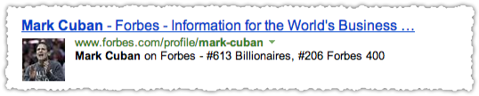 Forbes People Snippet for Mark Cuban