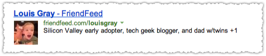 FriendFeed People Snippet for Louis Gray