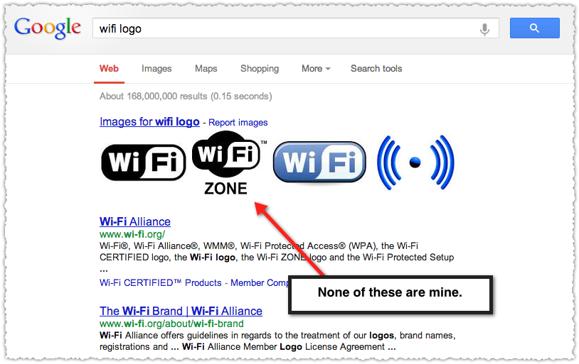 Google Search Result for Wifi Logo