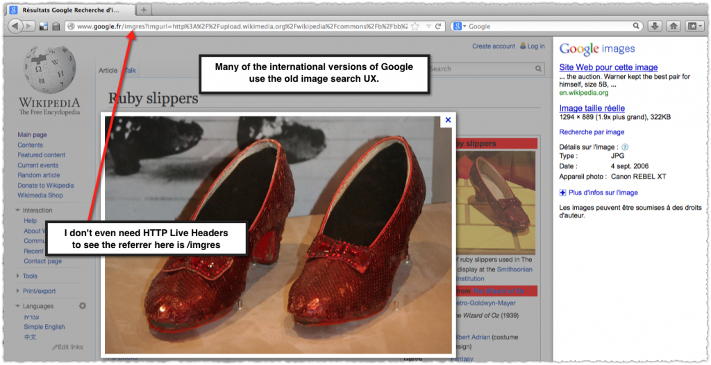 google.fr image search for ruby red slippers