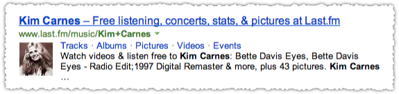 Last.fm People Snippet for Kim Carnes