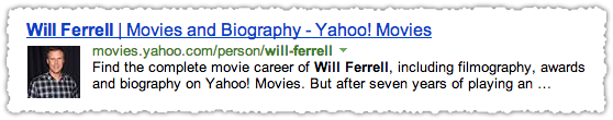 Yahoo Movies People Snippet for Will Ferrell