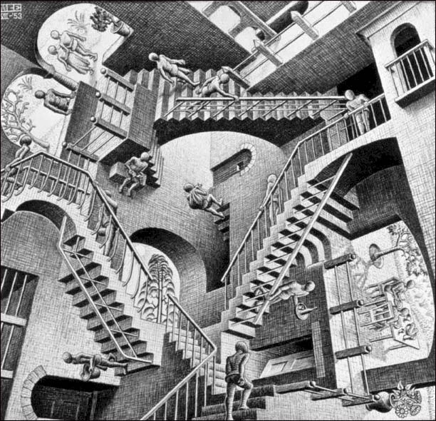 MC Escher Relativity Stairs