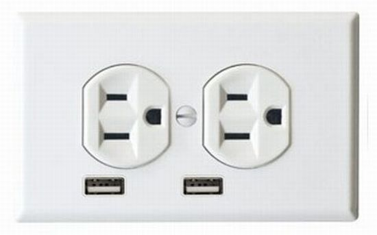 Electrical Outlet with USB and Normal Sockets