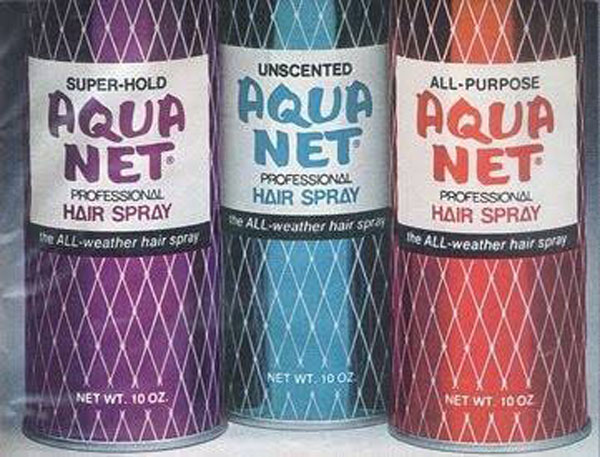 Teased Hair with Aqua Net