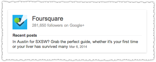 Knowledge Card for Foursquare